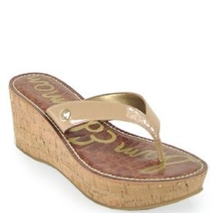 1028b944a106a6 Sam Edelman Shoes - EUC Sam Edelman Romy Wedge Sandal in Almond Size 6